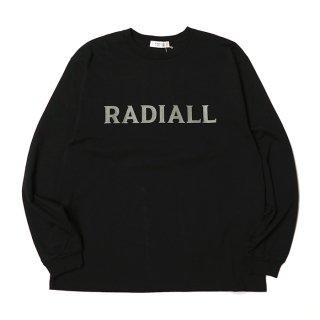 RADIALL/LOGO TYPE-CREW NECK T-SHIRT L/S/ブラック