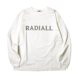 RADIALL/LOGO TYPE-CREW NECK T-SHIRT L/S/ホワイト
