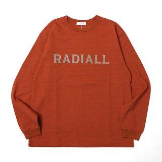 RADIALL/LOGO TYPE-CREW NECK T-SHIRT L/S/オレンジ