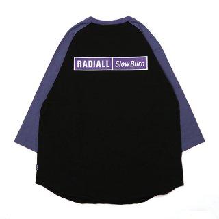 RADIALL/SLOW BURN-CREW NECK T-SHIRT 3Q/S/ブラック