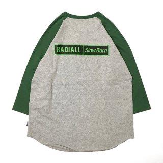 RADIALL/SLOW BURN-CREW NECK T-SHIRT 3Q/S/グレー