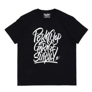 PORKCHOP/BRUSH TEE/ブラック