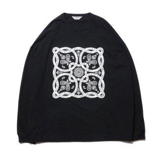 COOTIE/PRINT L/S TEE(BANDANA)/ブラック