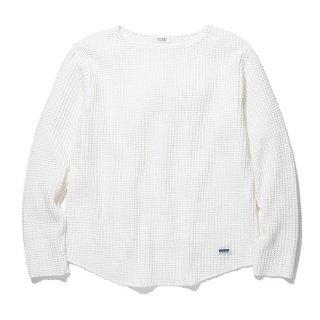 RADIALL/BIG WAFFLE-BOAT NECK T-SHIRT L/S/ホワイト