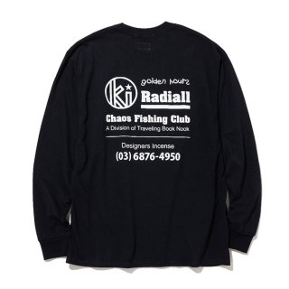 RADIALL/GOLDEN HOURS-CREW NECK T-SHIRT L/S/ブラック