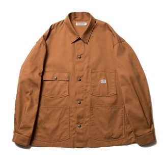 COOTIE/T/C SERGE SHORT COVERALL/ブラウン