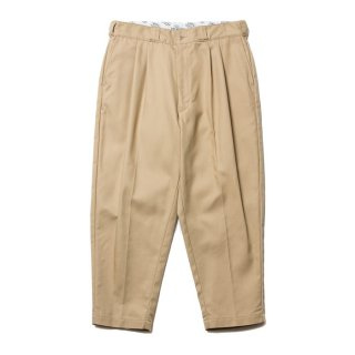 COOTIE/T/C SERGE 2 TUCK TROUSERS/ベージュ