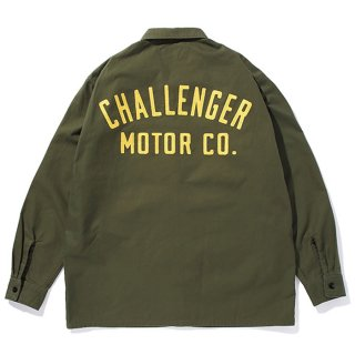 CHALLENGER/MOTOR CO. SHIRT/オリーブ