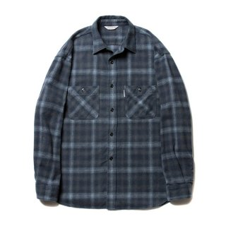 COOTIE/OMBRE CHECK SHIRT/チャコール