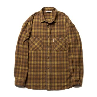 COOTIE/OMBRE CHECK SHIRT/マスタード