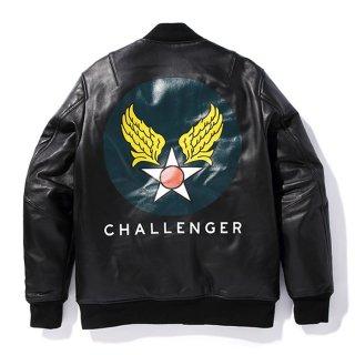 CHALLENGER/LEATHER FLIGHT JACKET
