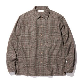 RADIALL/MOS OPEN COLLARED SHIRT L/S