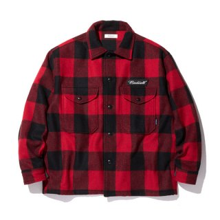 RADIALL/FLAGS-REGULAR COLLARED SHIRT L/S/レッド