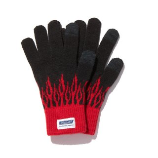 RADIALL/FLAMES-JACQUARD GLOVES/ブラック