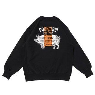 PORKCHOP/PORK BACK SWEAT/ブラック