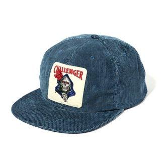 CHALLENGER/SPADE SKULL CORDUROY CAP/ブルー