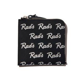 RADIALL/RAD'S-ZIP SQUARE WALLET/ブラック
