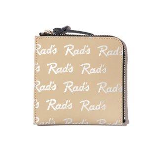 RADIALL/RAD'S-ZIP SQUARE WALLET/ベージュ