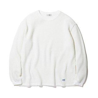 RADIALL/BIG WAFFLE-CREW NECK T-SHIRT L/S/ホワイト