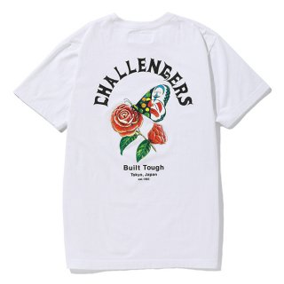 CHALLENGER/CHALLENGERS BUTTERFLY TEE/ホワイト