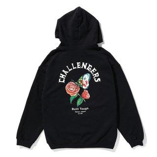 CHALLENGER/CHALLENGERS BUTTERFLY HOODIE/ブラック