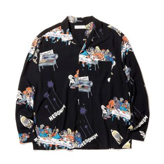 RADIALL/BIBLE-OPEN COLLARED SHIRT L/S/ブラック