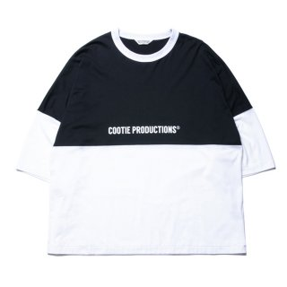 COOTIE/SUPIMA COTTON 2 TONE S/S TEE/ホワイト×ブラック