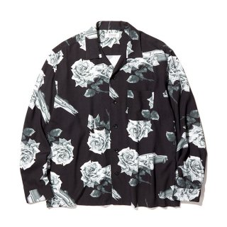 RADIALL/CHEVY ROSE-OPEN COLLARED SHIRT L/S/ブラック【20%OFF】<img class='new_mark_img2' src='https://img.shop-pro.jp/img/new/icons20.gif' style='border:none;display:inline;margin:0px;padding:0px;width:auto;' />