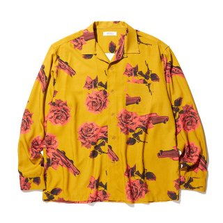 RADIALL/CHEVY ROSE-OPEN COLLARED SHIRT L/S/マスタード