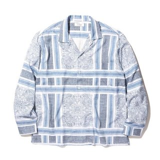 RADIALL/MONTE CARLO-OPEN COLLARED SHIRT L/S