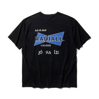 RADIALL/BOWTIE-CREW NECK POCKET T-SHIRT S/S/ブラック