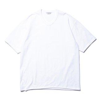 COOTIE/PLAIN V-NECK S/S TEE/ホワイト