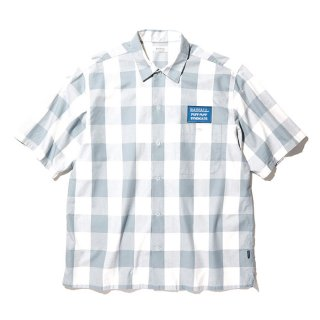 RADIALL/SYNDICATE-REGULAR COLLARED SHIRT S/S/グレー