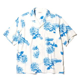 RADIALL/CHEVY ROSE-OPEN COLLARED SHIRT S/S/ホワイト