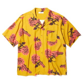 RADIALL/CHEVY ROSE-OPEN COLLARED SHIRT S/S/マスタード
