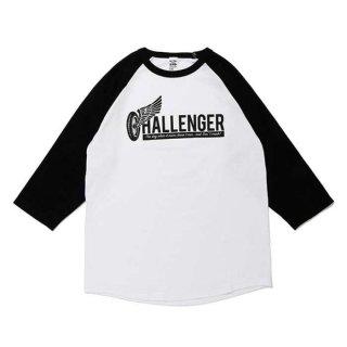 CHALLENGER/WHEEL LOGO RAGLAN TEE