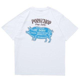 PORKCHOP/PORK BACK S/S TEE/ホワイト