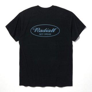 RADIALL/OVAL-CREW NECK T-SHIRT S/S/ブラック