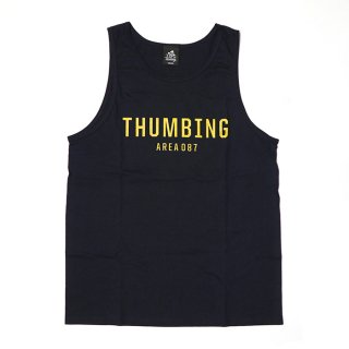 THUMBING/SIGN TANK TOP/ネイビー/送料無料