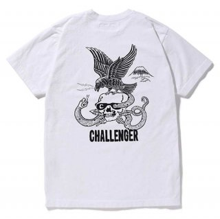 CHALLENGER/CROSS OVER TEE/ホワイト