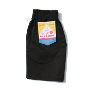 COOKMAN/CHEF SHORT PANTS/ブラック