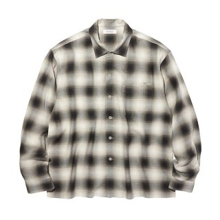 RADIALL/FAME-OPEN COLLARED SHIRT L/S/ブラック
