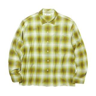 RADIALL/FAME-OPEN COLLARED SHIRT L/S/グリーン