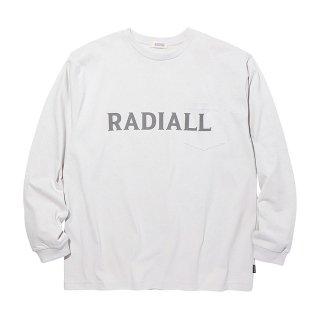 RADIALL/LOGOTYPE-CREW NECK POCKET T-SHIRT L/S/スノーホワイト