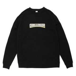 CHALLENGER/COLLEGE LOGO C/N SWEAT/ブラック