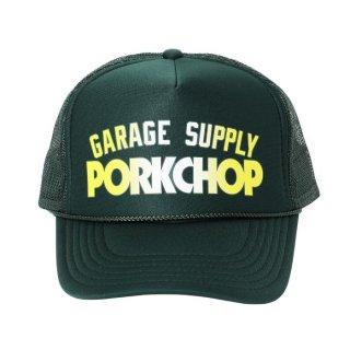 PORKCHOP/BLOCK LOGO CAP/D.グリーン