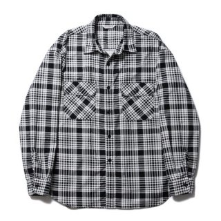 COOTIE/PRINT NEL CHECK SHIRT/オフホワイト