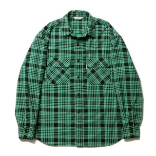 COOTIE/PRINT NEL CHECK SHIRT/グリーン