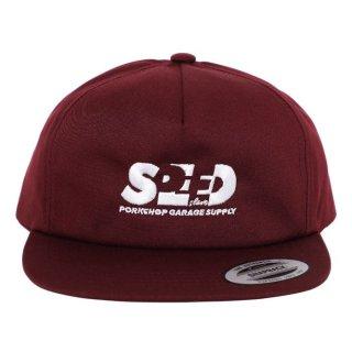 PORKCHOP/SPEED SLAVE CAP/バーガンディー