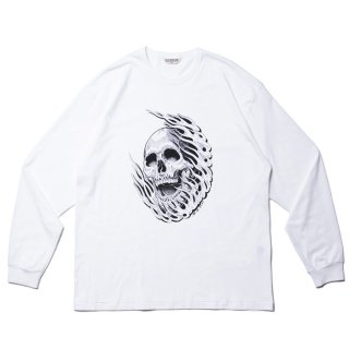 COOTIE/PRINT L/S TEE (MAGICAL DESIGN)/ホワイト